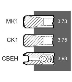 1030-ZN76 Pierścienie 116mm 3,73x3,75x3,93mm