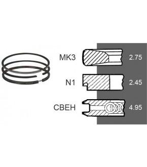 4030-ZN155 Pierścienie 3szt. 102mm