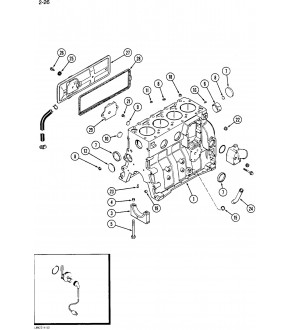 2040-US82 Uszczelka pokrywy bocznej CUMMINS 4c