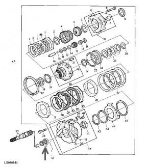 1013-SK19 Pierścień zapinany skrzyni pośreniej John Deere T28807