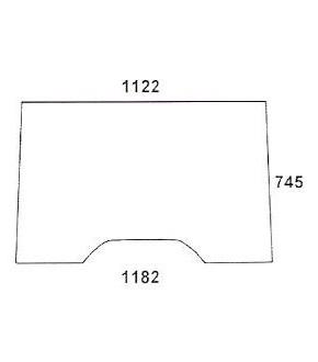 1020-KA4 JOHN DEERE / CLAAS / RENAULT - szyba przednia ,RT6005028923,RT6005010156,RT6005010155