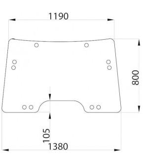 1020-KA7  Szyba przednia zielona John Deere,L155784, L171338