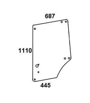 1020-KA10 Szyba drzwi L/P John Deere serii MC1,L57908, L63914,