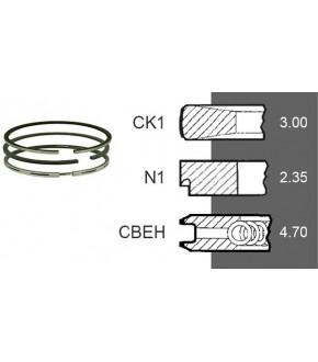 7030-ZN143 Pierścienie 3szt. 111.76mm