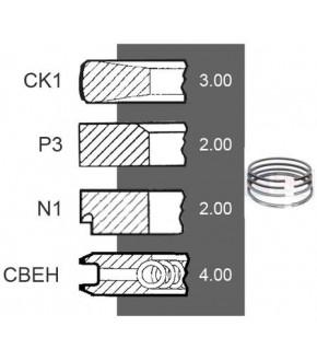 5030-ZN165 Pierścienie 3szt 105mm