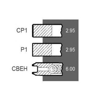 8030-ZN178 Pierścienie 3szt. 110mm