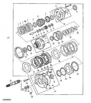 1013-SK18 Pierścień zapinany skrzyni pośreniej John Deere L33155