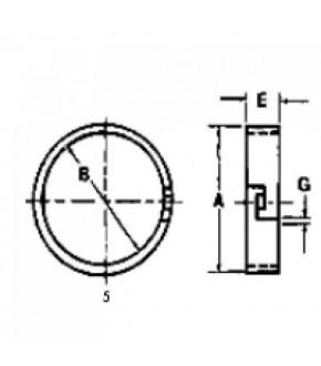 3013-SK17 Pierścień uszczelniający 136mm Massey Ferguson 185425M1,
