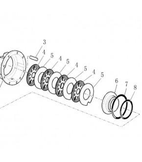 2014-HA93 Oring cylindra hamulcowego Case,2385264, 87302761, 87629042,