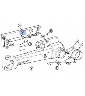 2017-UK13 Końcówka kierownicza 390mm Lewa Case ,1968469C1