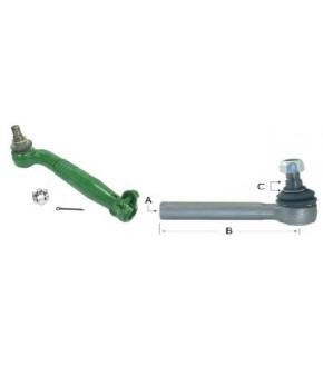 1017-UK10 Końcówka kierownicza 298mm Prawa John Deere ,AL58014 , AL168706