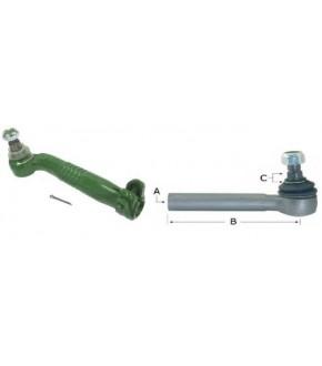 1017-UK12 Końcówka kierownicza 275mm Prawa John Deere,AL68255 , AL168702,