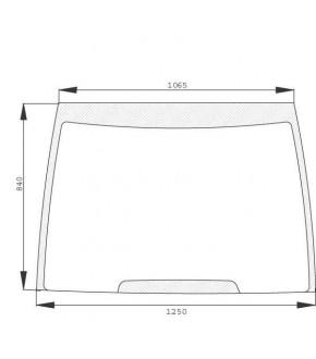 2020-KA1 Szyba przednia czołowa Case, 1330875C1, 248715A1