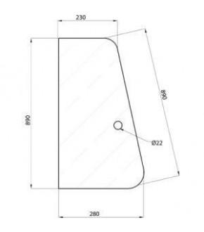 2020-KA6 Szyba drzwi XL P/L Case ,3233053R1, 3233053R2,