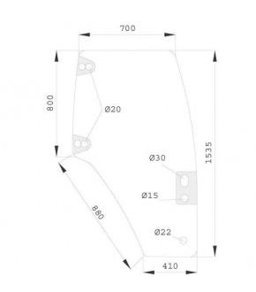 2020-KA8 Szyba drzwi P Case JXU,MXM,New Holland TM,TL,TS,82019225, 82036000, 82066001