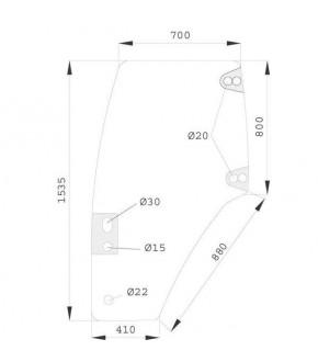2020-KA9 Szyba drzwi L Case JXU,MXM,New Holland TM,TL,T,82019226, 82036001
