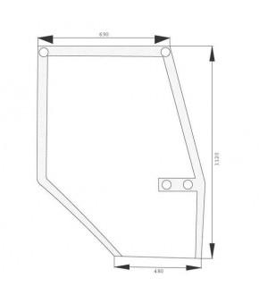 2020-KA10 Szyba drzwi Case 5000 L,1546817C2, 248723A1