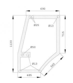 2020-KA12 Szyba drzwi Case 5000 Maxxum L ,1330931C1, 1330931C2