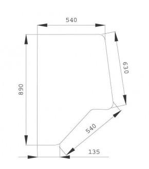 2020-KA15 Szyba drzwi XL P/L Case,3233051R2, 3233051R1