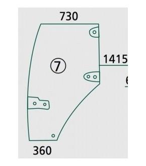 2020-KA17 Szyba drzwi prawa Case MX,192004A4, 192004A5, 192004A6,
