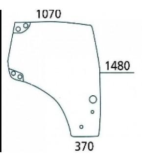 2020-KA26 Szyba drzwi L Case,New Holland,87560786, 650S027357