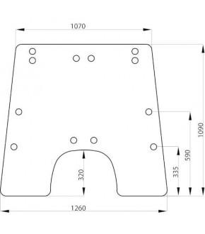 1020-KA2 Szyba przednia John Deere,AL71287