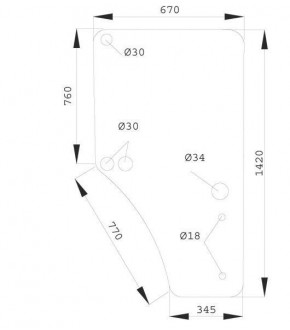 1020-KA9 Szyba drzwi prawych JD serii 6000 7000,L169103, L77648,