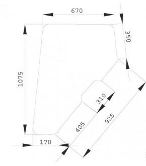 1020-KA13 JOHN DEERE,CLAAS,RENAULT-szyba drzwiowa P / L,RT6005010161