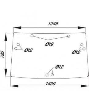 1020-KA30 Szyba tylna John Deere,R110990, RE51363,