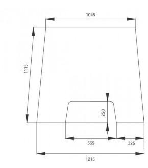 3020-KA1 Szyba czołowa Massey Ferguson 3000,3385240M3, 3385240M4, 3385240M5,