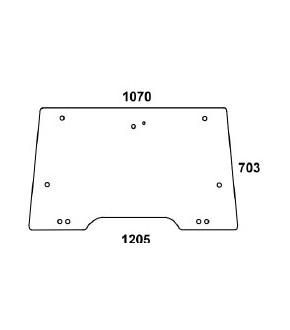 3020-KA2 Szyba przednia przezroczysta otwierana Massey Ferguson,3806580M4