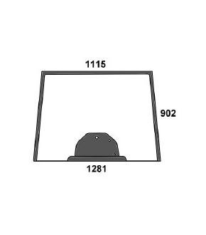 3020-KA4 Szyba przednia zielona z nadrukiem Massey Ferguson,3777602M2