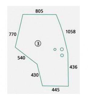 3020-KA7 Szyba drzwi P Massey Ferguson,3907222M1