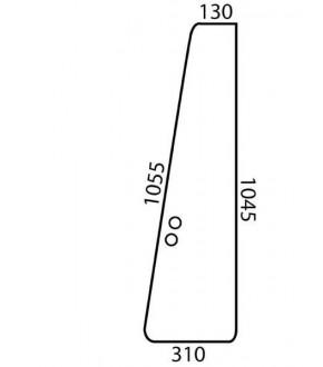 3020-KA9 Szyba drzwiowa przednia zielona Massey Ferguson,3389399M2