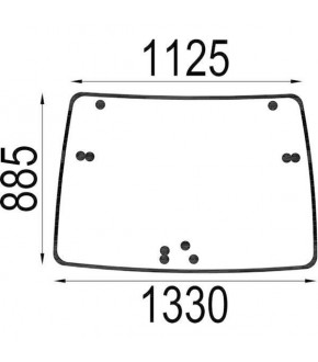 4020-KA1 Szyba przednia Deutz-Fahr,04418946,