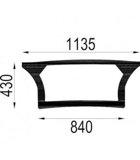 4020-KA8 Szyba tylna dolna z nadrukiem Deutz-Fahr,0.010.5210.0/20