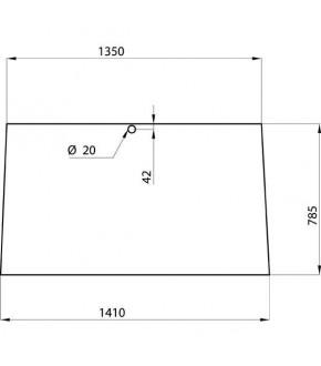 5020-KA1 Szyba przednia Fendt Favorit 600,275500210100