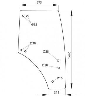 5020-KA5 Szyba drzwi prawa Fendt,117810030020