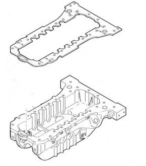 Uszczelka misy olejowej Komatsu WB,Case 580,New Holland LB,