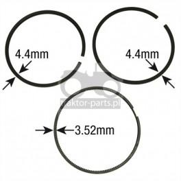 1030-ZN75 Pierścienie tłokowe 106,5mm,DD11831,RE15674,RE48818,RE507852,RE66820,6005012810,6005028695 John Deere Cylindry, Tło...