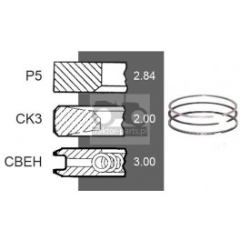4030-ZN156 Pierścienie 94mm 2,8x2x3mm Deutz Fahr Cylindry, Tłoki,Zestawy Naprawcze Silnika